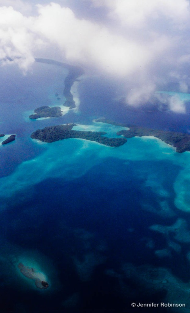 Aerial shot of Solomon Islands