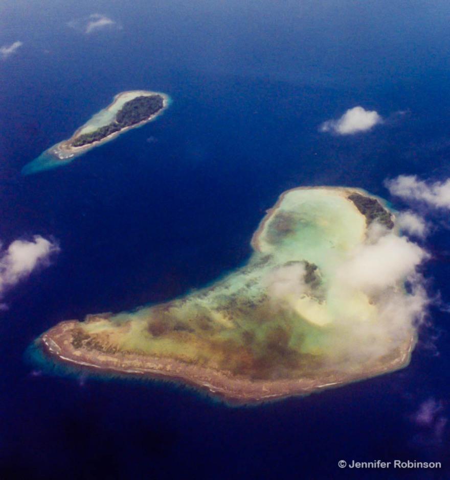 Aerial shot of Solomon Islands