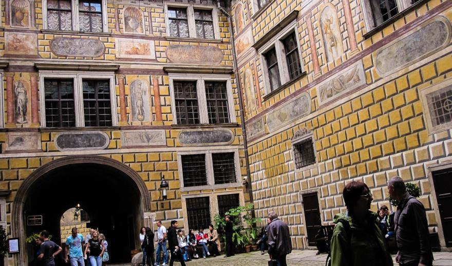 Cesky Krumlov- Castle Courtyard