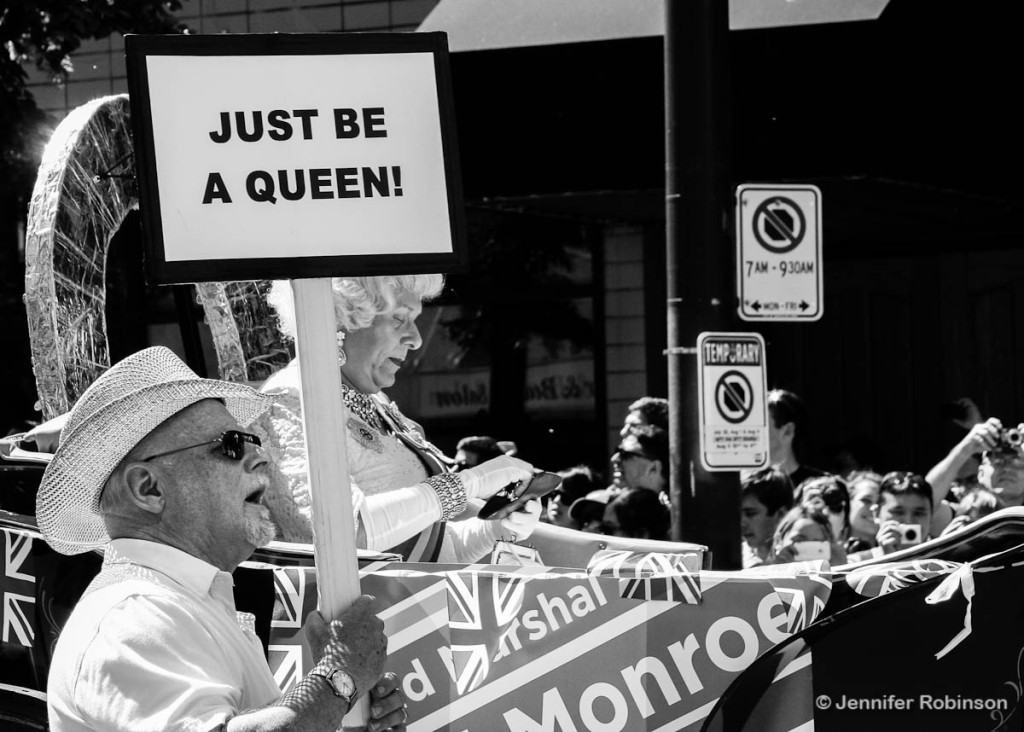 Even the Queen showed up for Vancouver's Pride Pride in 2012. Her escort had ...