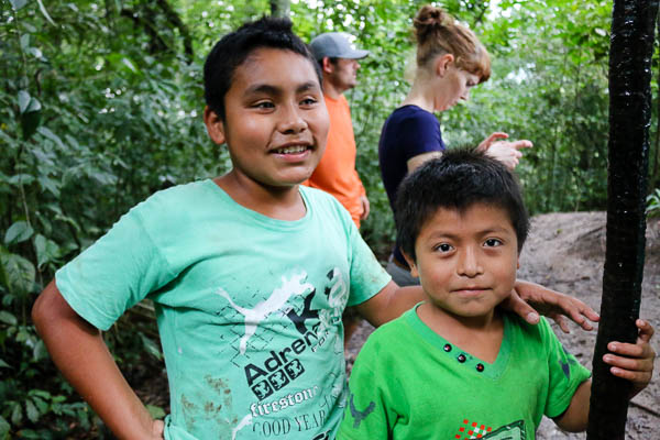 Marcos and Erubey guided us to the waterfalls in Roberto Barrios. (Photo by Jennifer Robinson)